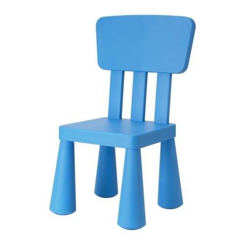IKEA Kinderstuhl MAMMUT Kindermöbel Stuhl in BLAU unverwüstlich