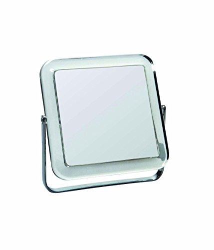 Gerson Miroir Carré Transparent/Chromé Grossissant x 10 18 x 18 cm