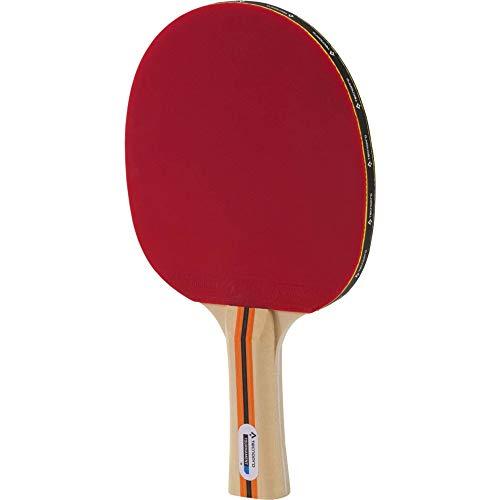 TECNOPRO Tischtennis-Schläger Tournament 1 Stern Tischtennisschläger, Schwarz/Rot, One Size