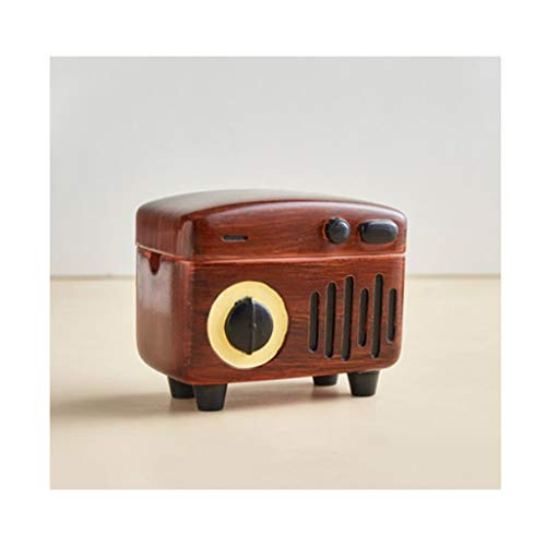didi Cenicero creativo para cenicero de mesa, resistente al viento, cenicero para uso en interiores o exteriores, bandeja de cenizas para el hogar, oficina o cenicero de regalo (color: marrón)