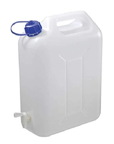 Carpoint 0110073 Wasserkanister mit Hahn 10L, Weiß