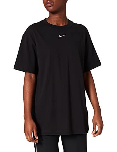 Nike DH4255-010 W NSW ESSNTL TOP SS BF T-Shirt Womens Black/(White) L