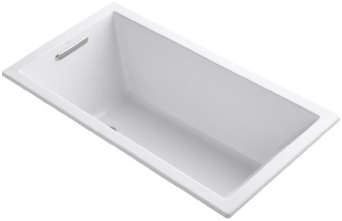 KOHLER K-1130-0 Underscore Rectangle Bathtub, White