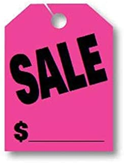Donkey Auto Products Car Mirror Hang Tags - Jumbo Fluorescent (50 per Pack) (Sale, Pink)