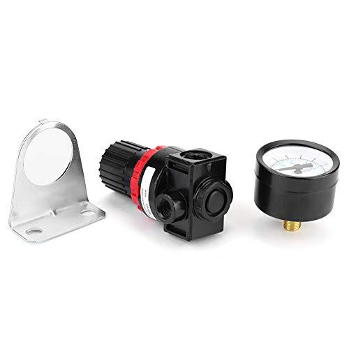 Luchtdrukregelaar AR2000 G1/4 regelbare luchtdrukregelaar perslucht-processor-manometer met Bracketfilter drukregelventiel