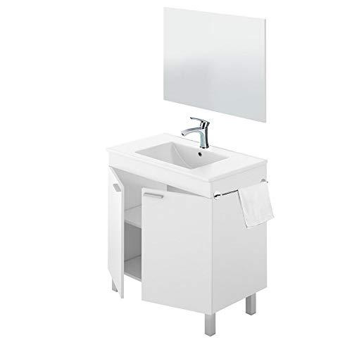 Mueble de Baño Moderno con Espejo y Lavabo (No Clasica Cerámica) +...