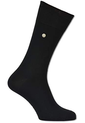 Carlo Colucci Socke ?FIRENZE? aus merzerisierter Baumwolle mit Niete, Schwarz Schwarz 45-46