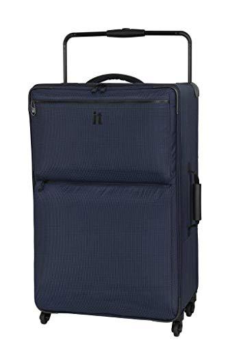 Maleta con 4 Ruedas giratorias, de la Marca IT Luggage, de 83 cm, en Dos Tonos, Color Azul Marino