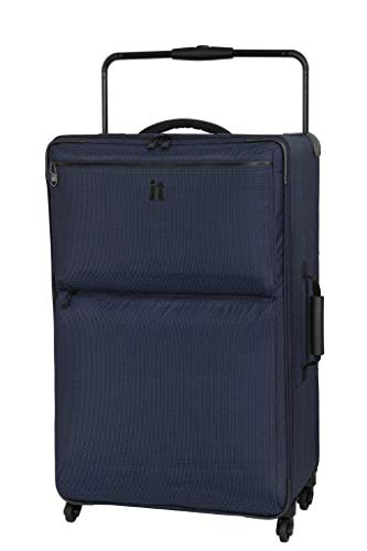 IT Luggage World's Lightest 83cm 4 Wheel Spinner Suitcase Two Tone - Navy