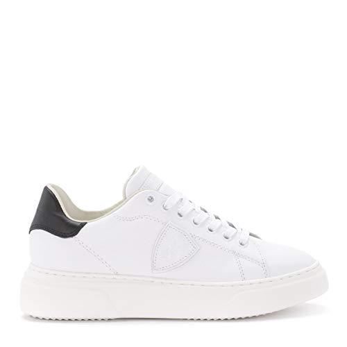 Philippe Model Sneaker Temple Aus Weißem Und Schwarzem Leder