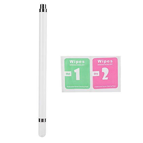 Caneta de toque de tela, Caneta de toque de tela universal, fácil de transportar e armazenar Tablet Nib de fibra moderadamente macia e dura(white)