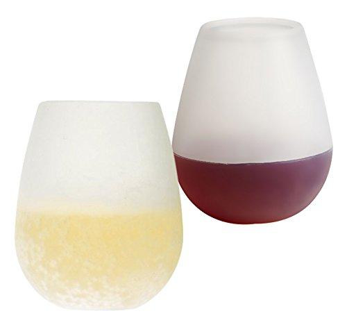 ozera silicona Copas de vino (2unidades), vino, irrompible flexible vasos de cerveza de cristal, vasos de 6vasos de plástico reutilizables 12oz),–Garantía de por vida