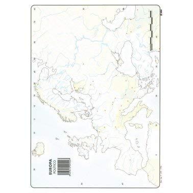 Mapa Mudo Europa Político A4 (10 ud.)