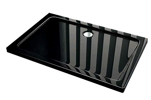 50 mm douchebak van sanitair-acryl 160 x 90 cm zwart