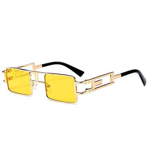acsefire Gafas de sol cuadradas retro Gafas de sol Steampunk no polarizadas para hombres y mujeres con protección UV400