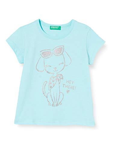 UNITED COLORS OF BENETTON T- Shirt Pull sans Manche, Turquoise (Aqua Splash 0z8), 80/86 (Taille Fabricant: 1Y) Bébé Fille