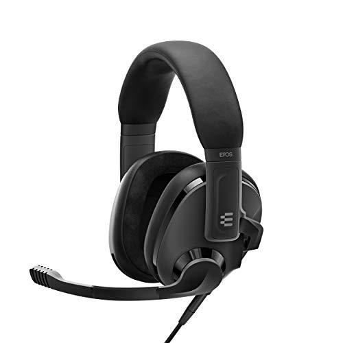 EPOS H3 Geschlossenes Akustisches Gaming Headset, Geräuschunterdrückendes Mikrofon, Plug & Play, Hohe Audio-Qualität, Individuell Einstellbar, Leicht, Ergonomisch, für PC, Mac, PS4, PS5, Switch, Xbox