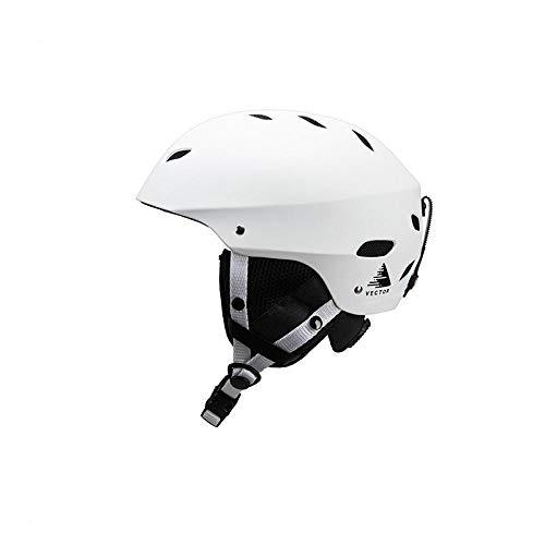 nohbi Sporthelm für Damen/Herren,Warmer und winddichter Outdoor-Skihelm, Verstellbarer, zerlegter Erwachsenenhelm - weiß,Motocross Helm