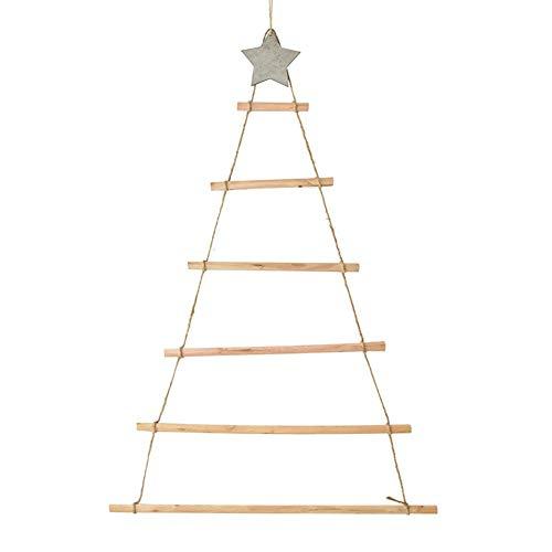 Bogget Ins Estilo nórdico Decoración de Madera para Colgar en la Pared Árbol de Navidad Decoraciones para Colgar en la Pared Decoración de Navidad