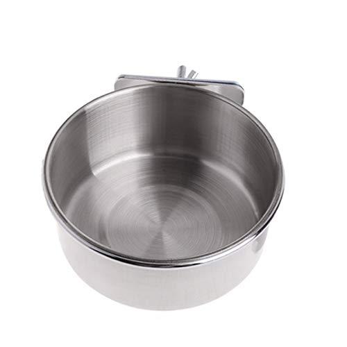 Kingsie ペットボウル オウムボール ステンレス製 インコ 鳥 バード 食器 水入れ 餌入れ フードボウル ゲージアクセサリー (S)