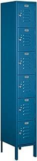 Salsbury Industries 66165BL-U Six Tier Box Style 12-Inch Wide 6-Feet High 15-Inch Deep Unassembled Standard Metal Locker, Blue