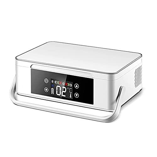 AMAZOM Insulina Portátil Mini Refrigerador Nevera Refrigerador De Coche Portátil Salir A Casa Coche Inteligente Hogar Refrigeración Portátil Recargable Medicina Refrigerador Pequeño 2-8 ℃,Blanco