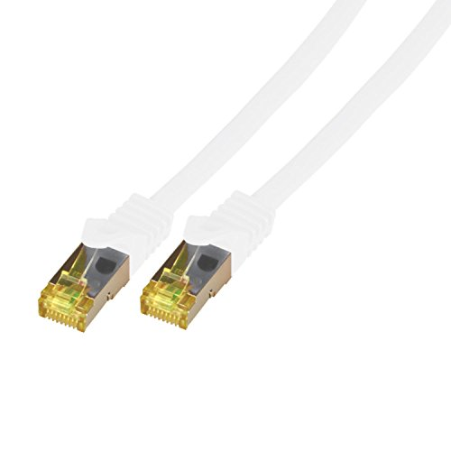 BIGtec 15m Netzwerkkabel Patchkabel CAT.7 Ethernet LAN DSL Patch Kabel Gigabit orange (2X RJ-45 Anschluß, doppelt geschirmt,SFTP) 15 Meter