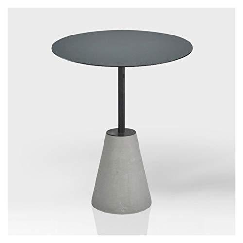 KGDC Tavolini Bassi Moderno Accent End Side End Table Industrial Style Cement Ferro Side Table Style Soggiorno Balcone Piccolo Tavolo Rotondo, 15.7'× 21,7' Tavolini da Caffé (Color : A)