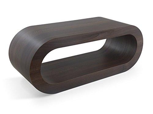 Zespoke Design Rétro Médium Mat Noyer 90cm Cerceau Café Pied de Table/TV