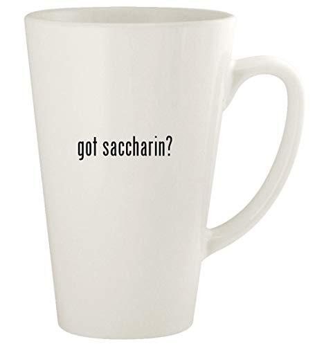 got saccharin? - 17oz Ceramic Latte Coffee Mug Cup, White