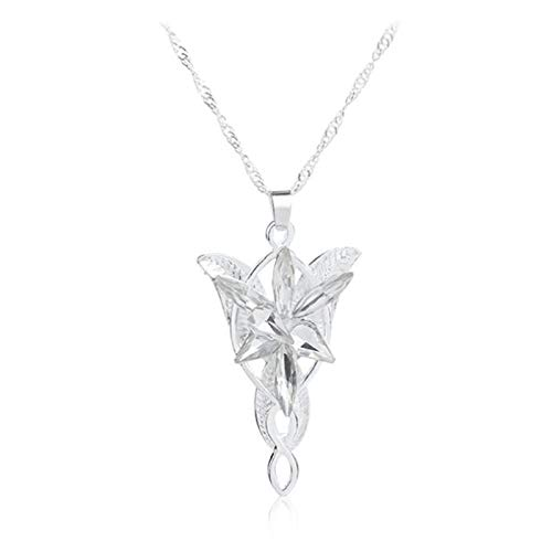 Phoetya Pendant Necklace, Fairy Princess Pendant Necklace for Lord of The Rings The Hobbit Star of The Dark