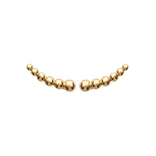 Tata Gisèle  Pendientes Lobe chapados en oro – Ranura de bolas – Bolsa regalo de terciopelo