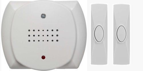 GE Wireless Door Chime with Two Push Buttons 19209