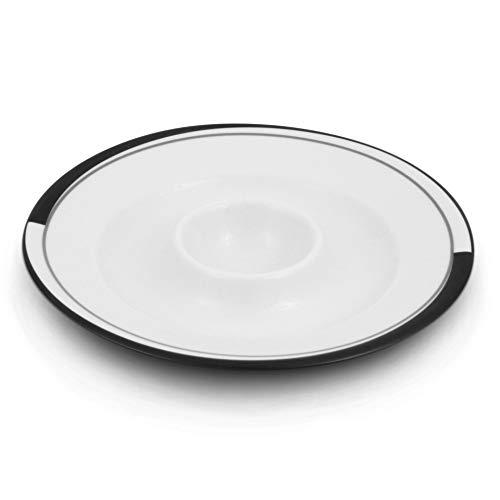 Friesland Porzellan Eierbecher/Eierteller 13cm La Belle Black & White