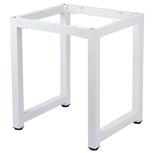 Tafelpoot Stalen Frame Bureaustandaard 60x60x71cm Anti-kras Rubberen Pad Klikverbinding Moderne stijl Thuiskantoor(white)