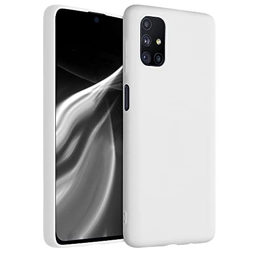 kwmobile Custodia Compatibile con Samsung Galaxy M51 - Cover in Silicone TPU - Back Case per Smartphone - Protezione Gommata Bianco Matt