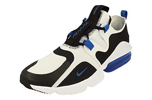 Nike Air Max Infinity Uomo Running Trainers BQ3999 Sneakers Scarpe (UK 8 US 9 EU 42.5, Black Game Royal White 008)