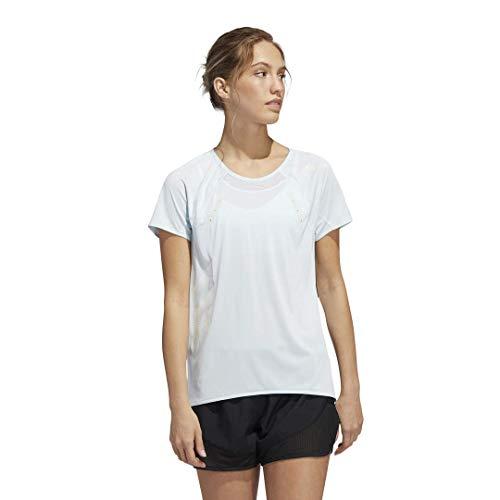 adidas Camiseta Heat.rdy para Mujer, Mujer, Camiseta, FYS73, Tinte Cielo, XL