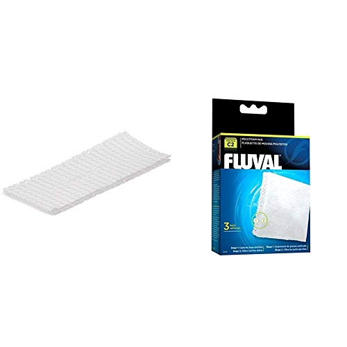 Fluval C2 Power Filter Media Replacement Bundle, 3-Pack Bio-Screen and 3-Pack Poly/Foam Pad, Filter Media for Aquariums up to 30 Gallons