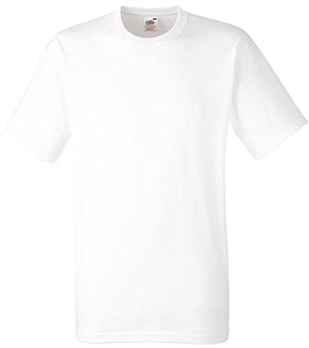 Fruit of the Loom Herren Heavy Cotton T T-Shirt, Weiß (White 000), X-Large