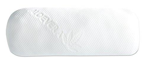 Nackenrolle Nackenkissen Stützkissen   40x15 cm   Weiß