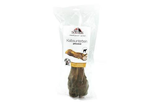 Tackenberg Kauartikel für Hunde, Kalbsunterbein 100% Kalb, getrocknet, Kauspaß ohne Zusatzstoffe
