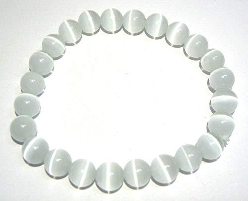 Potente braccialetto elastico rotondo di selenite regalo di guarigione in cristallo moda pace meditazione benessere accessorio artigianale