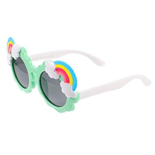 KESYOO Gafas de Sol de Fiesta para Niños Novedad Gafas de Arcoíris Divertidas Gafas de Disfraz para Fiesta de Cumpleaños Accesorio para Fotos (Verde)