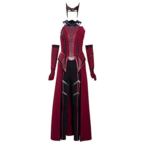 Olaffi Disfraz de Bruja roja Escarlata para Halloween, Carnaval, Cosplay, Disfraz de Mujer
