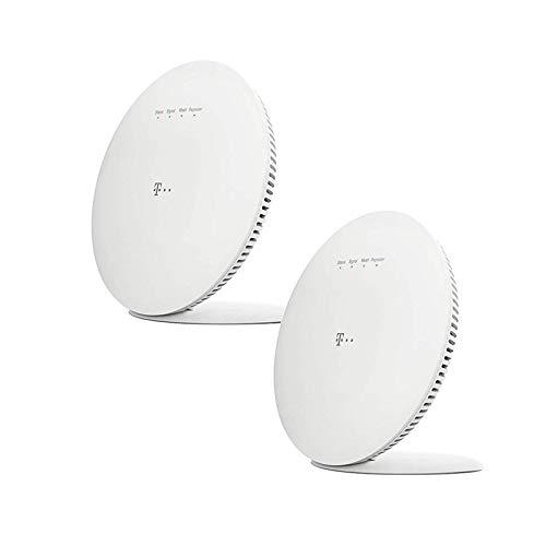 Telekom Speed Home WiFi für Ihr Starkes & stabiles Heimnetzwerk I WLAN Verstärker mit Mesh Technologie für optimale Internet-Abdeckung, 1.733 Mbit/s I Plug & Play per WPS, 2 LAN-Anschlüsse | 2er Pack
