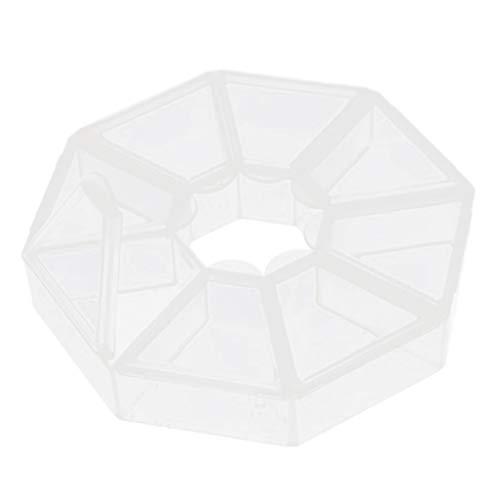 Generic Boitier de Rangement en Plastique Pour Ongle d'Art Boite Vide de Rangement Outil de Nail Art Blanc