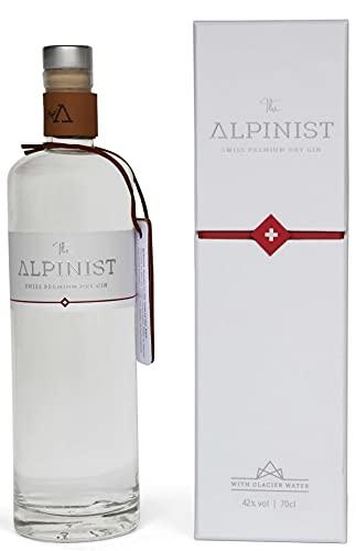 The Alpinist Swiss Premium Dry Gin mit frischen Bergkräutern & Schweizer Gletscherwasser I feine Zitrus- & Wacholdernote I pur oder als Gin Tonic genießen I inkl. Geschenkverpackung I 42% Vol, 0,7l