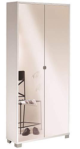 Sarmog Kit armario moderno con espejo para despacho, 2 puertas con espejo frontal