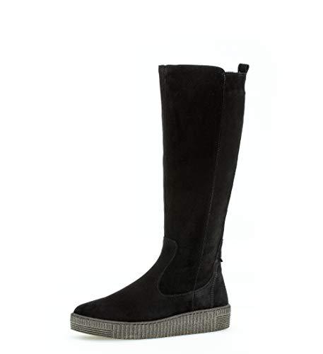 Gabor Damen Stiefel,Best Fitting,Reißverschluss,Schaftweite M,Optifit- Wechselfußbett, Winterstiefel leger,schwarz (anthrazit),39 EU / 6 UK